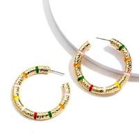 Candy Cane Hoops
