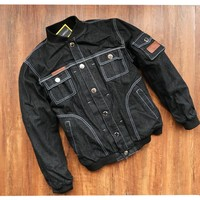 Breathable racing jackets/motorcycle off-road jackets/riding jackets/Windproof motorcycle clothing Denim jacket have protection