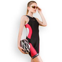 Women's Spring and Summer Triathlon Sleeveless Jumpsuit Fashion Cycling Sports Clothes