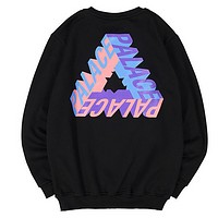 Palace autumn and winter three-dimensional solid color cotton triangle collar sweater Black