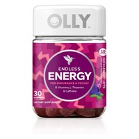 Olly Endless Energy Dietary Supplement Gummies - Huckleberry - 30ct