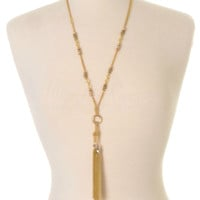 On My Way Tassel Necklace - Gold