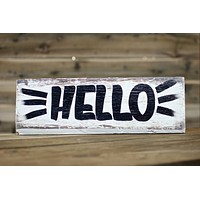 HELLO — Hand Painted Sign
