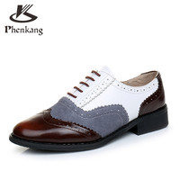 women flats Leather Oxford Shoes For Women Big Woman Size 11 Designer Vintage flat Shoes Round Toe Handmade White Creepers