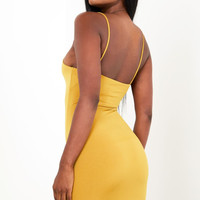 Sorella Skinny Strap Dress Mustard