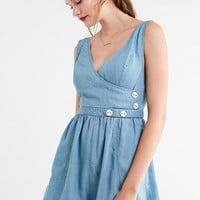 UO Anita Button Wrap Romper | Urban Outfitters