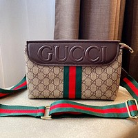 GUCCI New Women's Small Square Bag Retro Shoulder Crossbody Bag