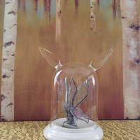 Wonderland Glass Cloche Air Plant Terrarium, Doe~Rabbit Ears
