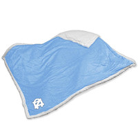 North Carolina Tar Heels NCAA  Soft Plush Sherpa Throw Blanket (50in x 60in)
