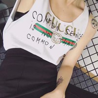 Gucci fashion women sleeveless vest tops Tagre™