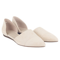 Oyster D'Orsay Suede Flat