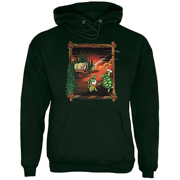 Youth Medium Grateful Dead Rainbow Hoopers Irish Green Youth Hoodie