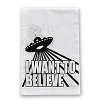 I Want to Believe Kitchen Towel