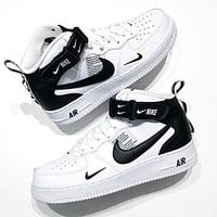 Nike Air Force 1 Mid 07 AF1 Fashion Women Men Personality Flat Sport Shoes Sneakers
