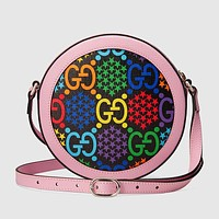 GUCCI Pop Candy Series Women Shopping Bag Leather Circular Crossbody Satchel Shoulder Bag