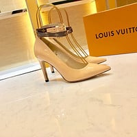 LV Louis Vuitton OFFICE QUALITY Women's Leather High-heeled Shoes