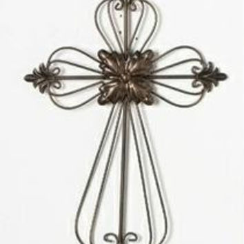 Wall Cross - Medallion Accent