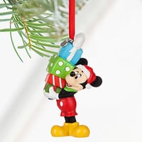 Disney Store 2016 Mickey with Presents Sketchbook Christmas Ornament New w Tags