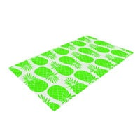 """Anchobee """"Pinya Neon Green"""" Lime Pattern Woven Area Rug"""