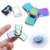 Fidget Spinner Rainbow Metal Hand Spinner EDC Fingertip Gyro for Autism and ADHD Relief Focus Anxiety Stress Gift Finger Toys