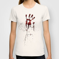 Zombie Attack Bloodprint - Halloween T-shirt by Nicklas Gustafsson | Society6