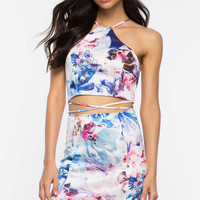 Lovers Floral Cut Out Dress