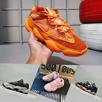 Adidas Yeezy Runner Boost 500 Blush Desert Rat Kanye West Wave Runner 500 700 350 Sneakers Running shoes designer shoes Athletic Sneaker M?yeezy?a with box