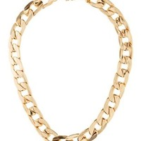 Gold Chunky Chain Choker by Charlotte Russe