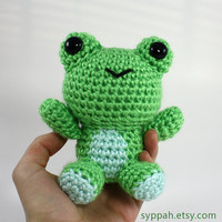 Crochet Frog Amigurumi Plush - Cute Frog Doll - Made to Order