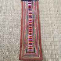 Vintage Handmade Tapestry Hmong textiles,Hand Embroidered Hill Tribe Textile Fabric,Cross stitch textiles