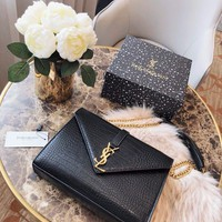 Saint Laurent Ysl Leather Shoulder Bag #2824