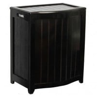 Oceanstar Design Bowed Front Plywood Laundry Hamper - BHP0106 - Hampers - Bed & Bath