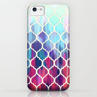 Moroccan Meltdown - pink, purple & aqua painted tiles iPhone & iPod Case by Micklyn