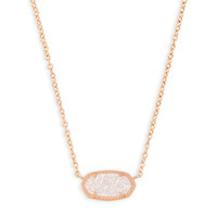 Elisa Rose Gold Pendant Necklace Lilac Pearl | Kendra Scott