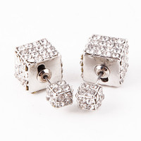 Double-Sided Cube Earrings