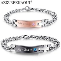 Unique Customized Stainless Steel Bracelets for Couples