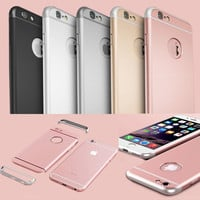 Ultra Slim Rose Gold Hard PC Back Case For Iphone 6 6S 4.7/ Plus 5.5 Romovale Arc Armor Shockproof Clear Logo Circle Cover Capa