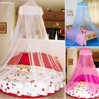 New Elegant Round Lace Curtain Dome Bed Canopy Netting Mosquito Net M0721 = 1705606404
