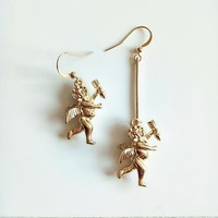 Cupid Asymmetrical Earrings
