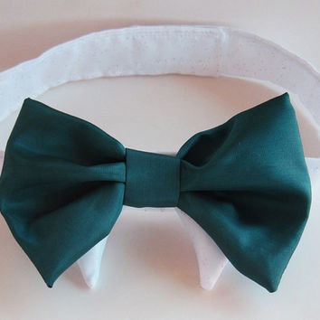 Bridal Dog fashion: Bow Tie for that special guy in your life Peacock Dog Collar