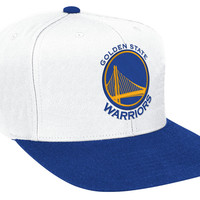 Mitchell & Ness Golden State Warriors XL Logo 2T Snapback In White