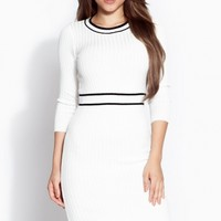Knit Ribbed Midi Body Con Dress @ Cicihot sexy dresses,sexy dress,prom dress,summer dress,spring dress,prom gowns,teens dresses,sexy party wear,ball dresses