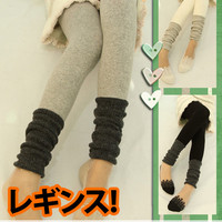 New Simple Fancy Knitted Thick Leg Warmer Winter Leggings 3 Colors KK348