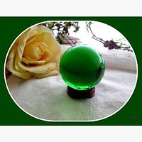 Mystic Green Healing Crystal Sphere & Stand 50mm