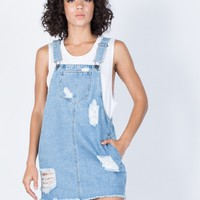 Weekend Vibes Overall Dress