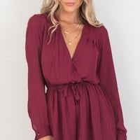 Lost Time playsuit in wine Produced By SHOWPO