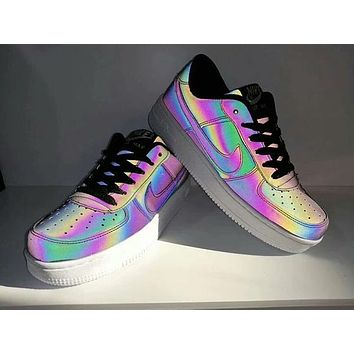 Nike Air Force 1 Unisex Casual Fashion Chameleon Low Help Plate Shoes Couple Sneakers