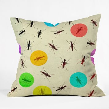 Elisabeth Fredriksson Tiny Insects Throw Pillow