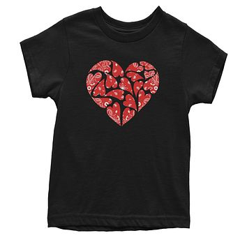 Paisley Banadana Heart Youth T-shirt