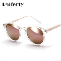 Ralferty Fashion Women Sunglasses Anti UV 400 Sun Protection Glasses Flash Mirror Sunglass Female Shades Sunglases oculos 1521